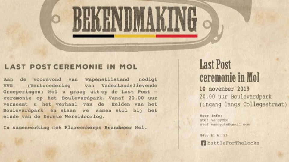 Last post ceremonie in Mol