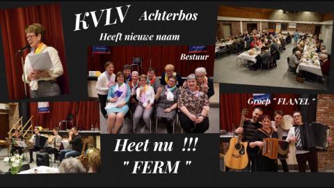 "KVLV Achterbos heet nu "" FERM Achterbos """