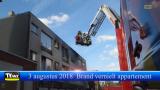 Brand vernielt appartementsgebouw in Mol Centrum